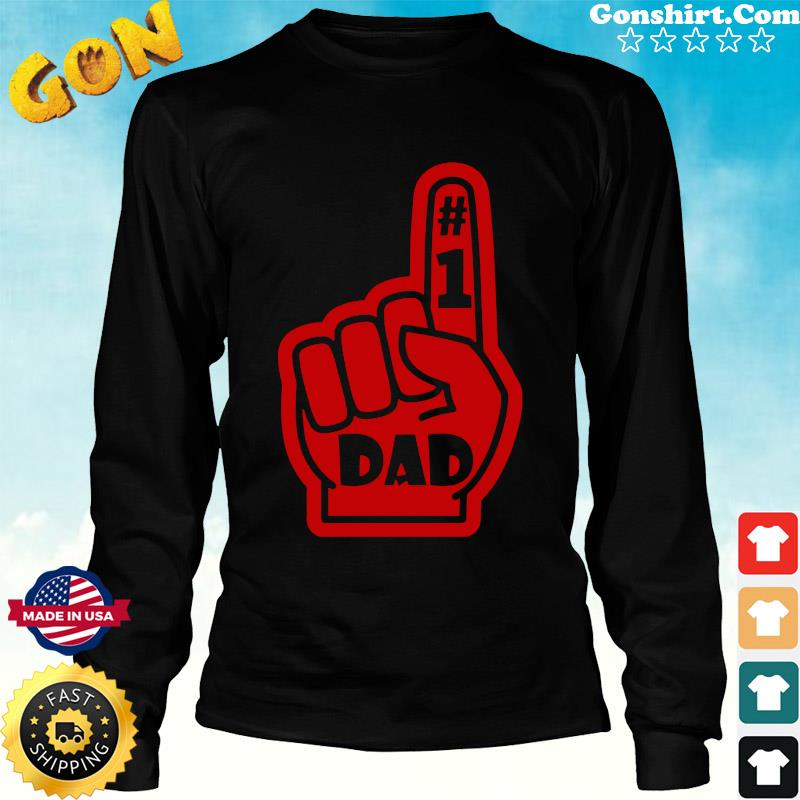 #1 Dad Number One Father's Day Shirt Long Sweater