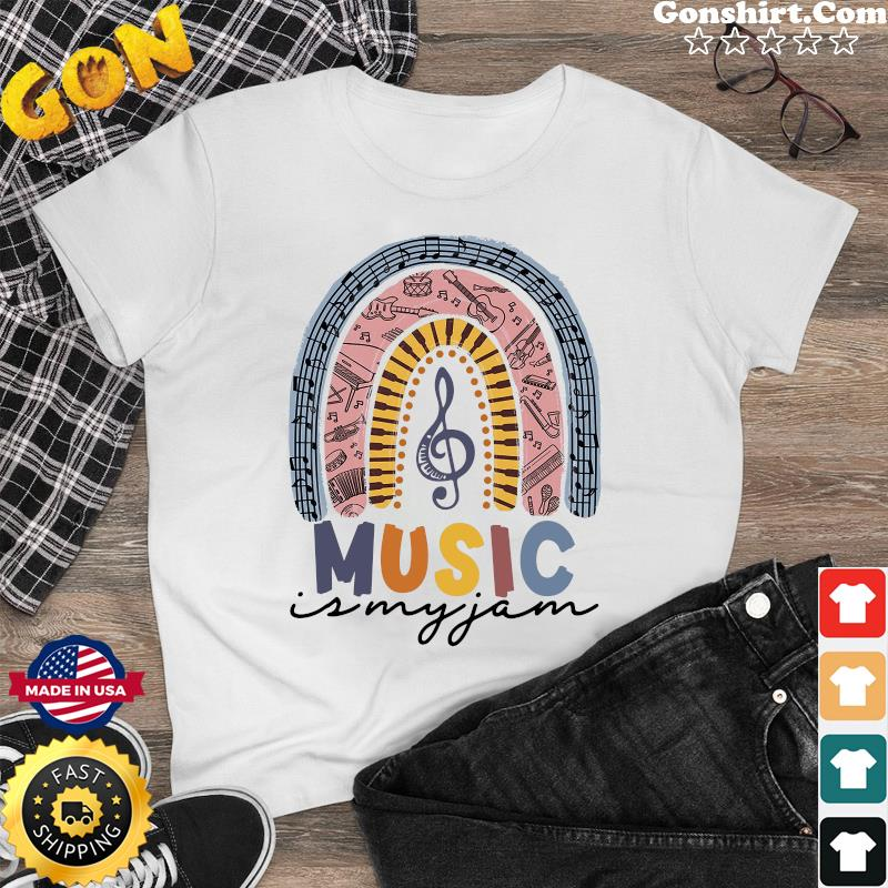 Music Is My Jam - Boho Rainbow Shirt