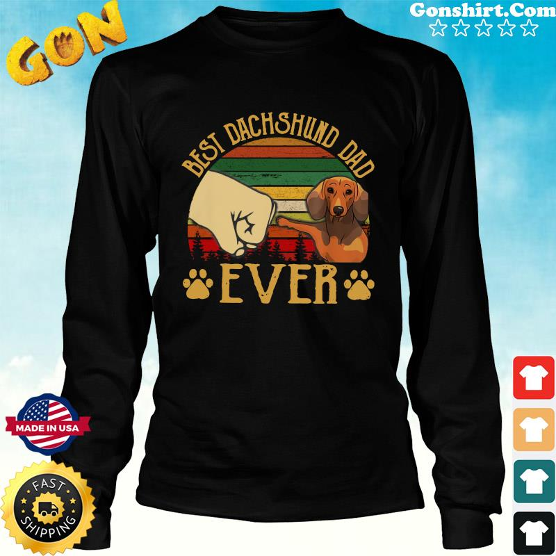Official Father's Day - Best Dachshund Dad Ever Vintage Shirt Long Sweater