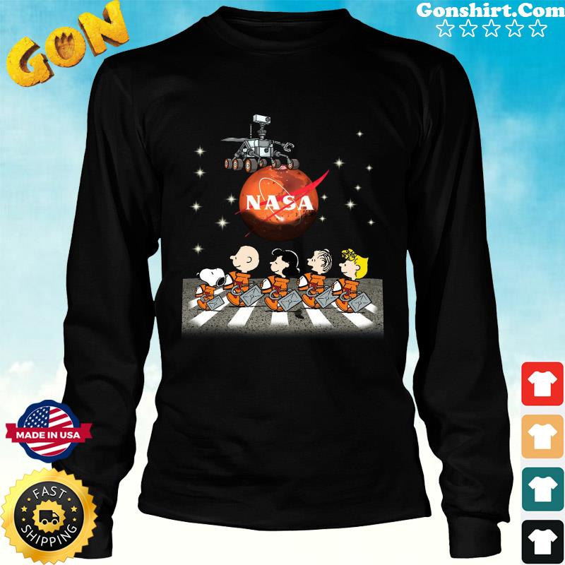 Official NASA With The Peanuts And Snoopy Abbey Road Shirt Long Sweater