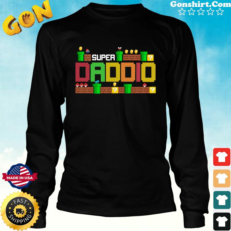 Official Super Daddio - Happy Father's Day 2021 Shirt Long Sweater