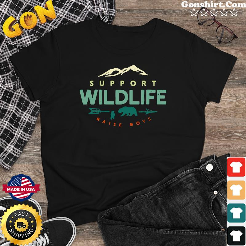 Official Support Wildlife Raise Boys Shirt