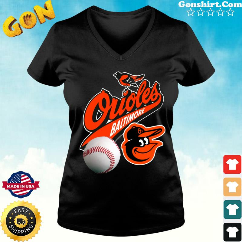 Official The Baltimore Orioles Baseball Shirt ladies tee