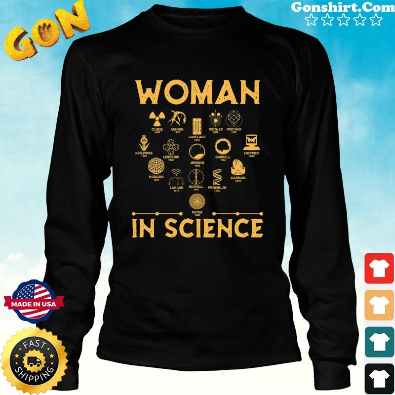 Official The Woman In Science 2021 Shirt Long Sweater