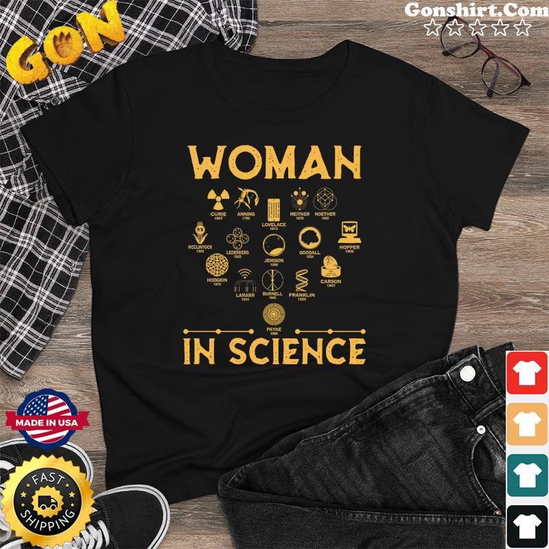 Official The Woman In Science 2021 Shirt