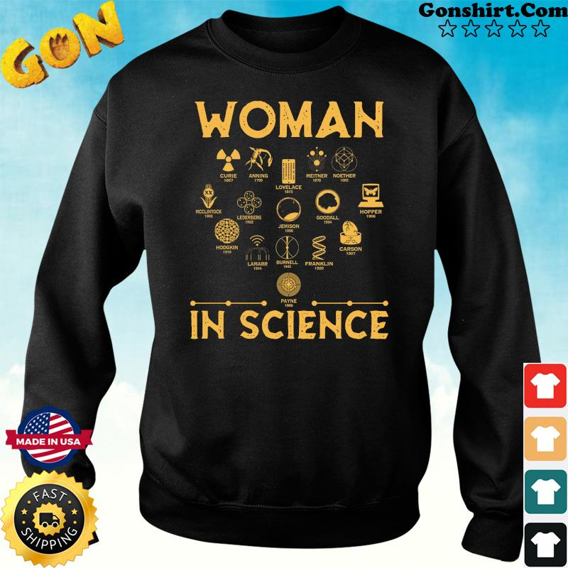 Official The Woman In Science 2021 Shirt Sweater