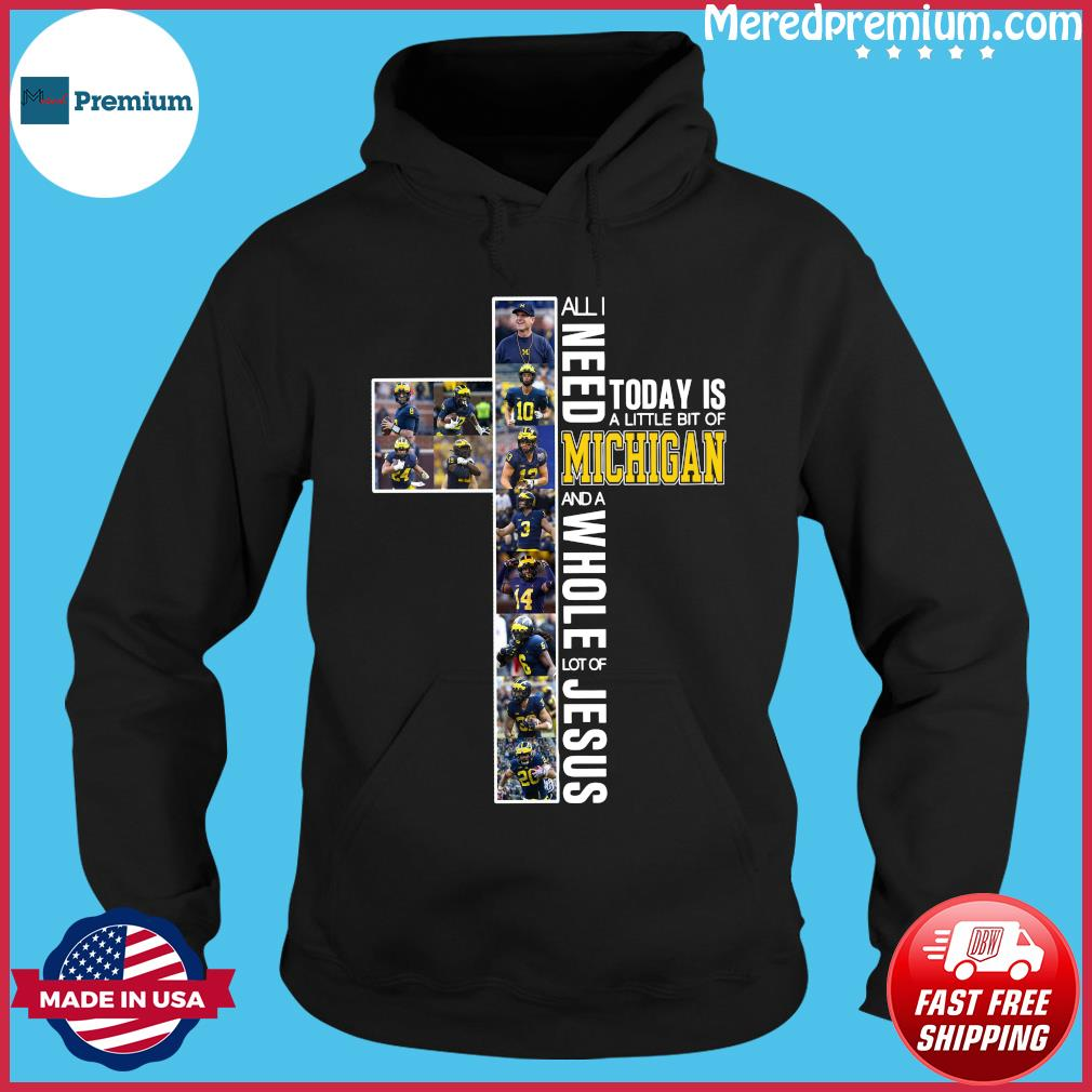 All Need Today Is A Little Bit Of Michigan And A Whole Lot Of Jesus Shirt Hoodie