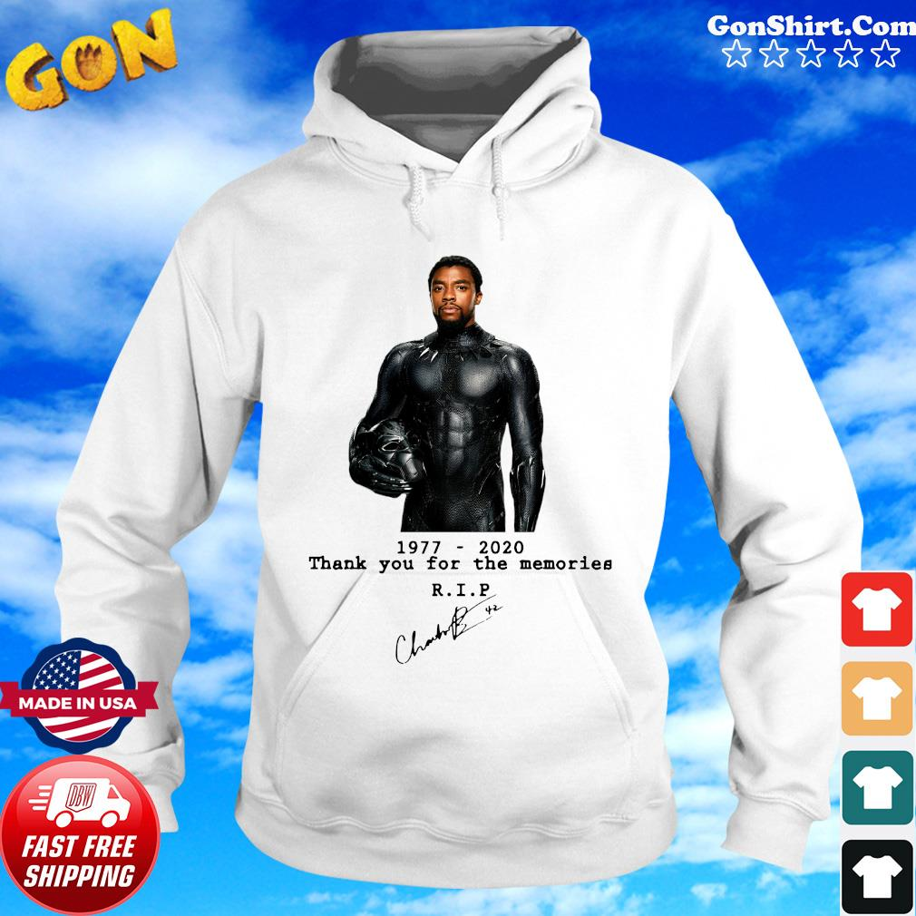 Black panther 1977 2020 thank you for the memories RIP Shirt Hoodie