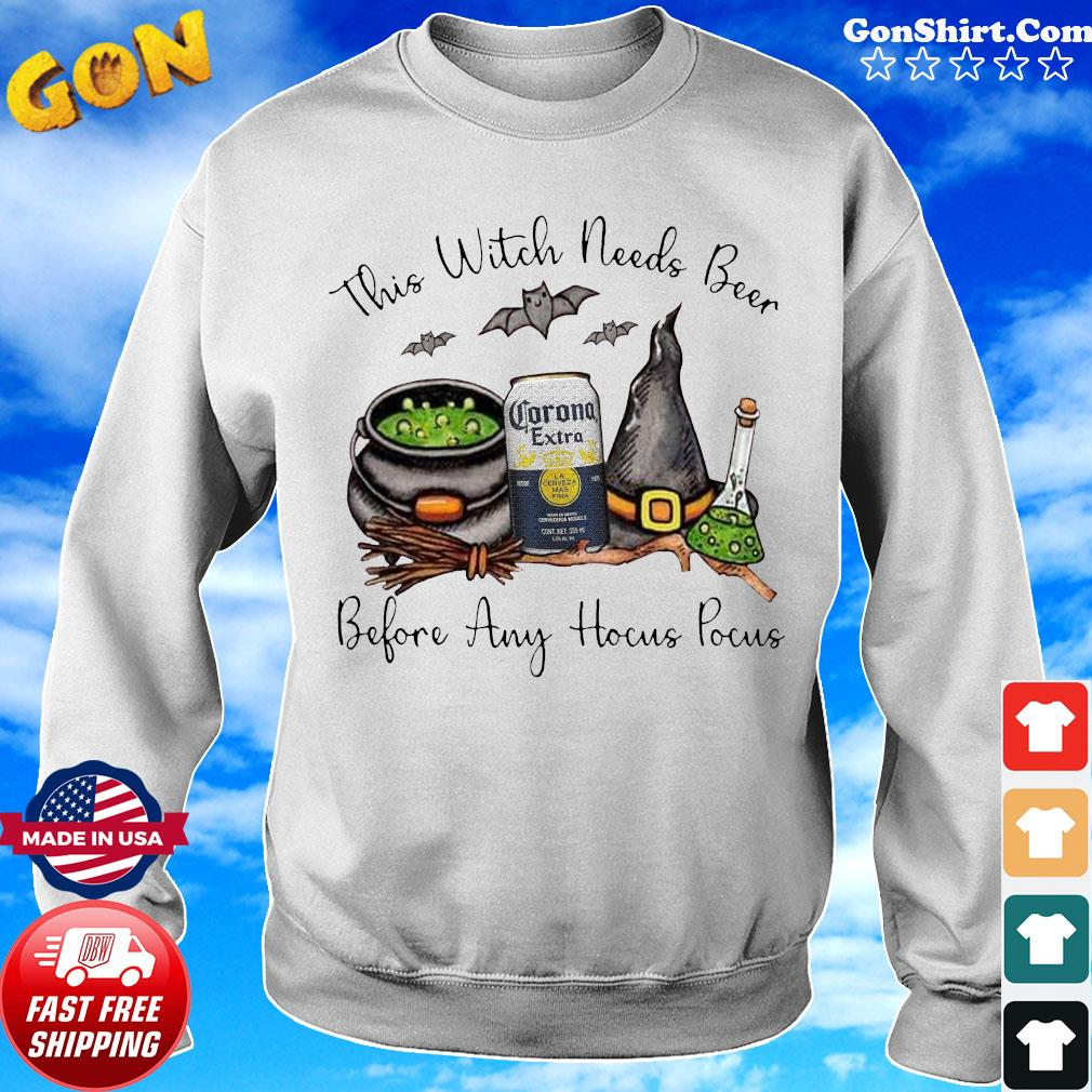 Corona Extra This Witch Needs Beer Before Any Hocus Pocus Shirt Sweater