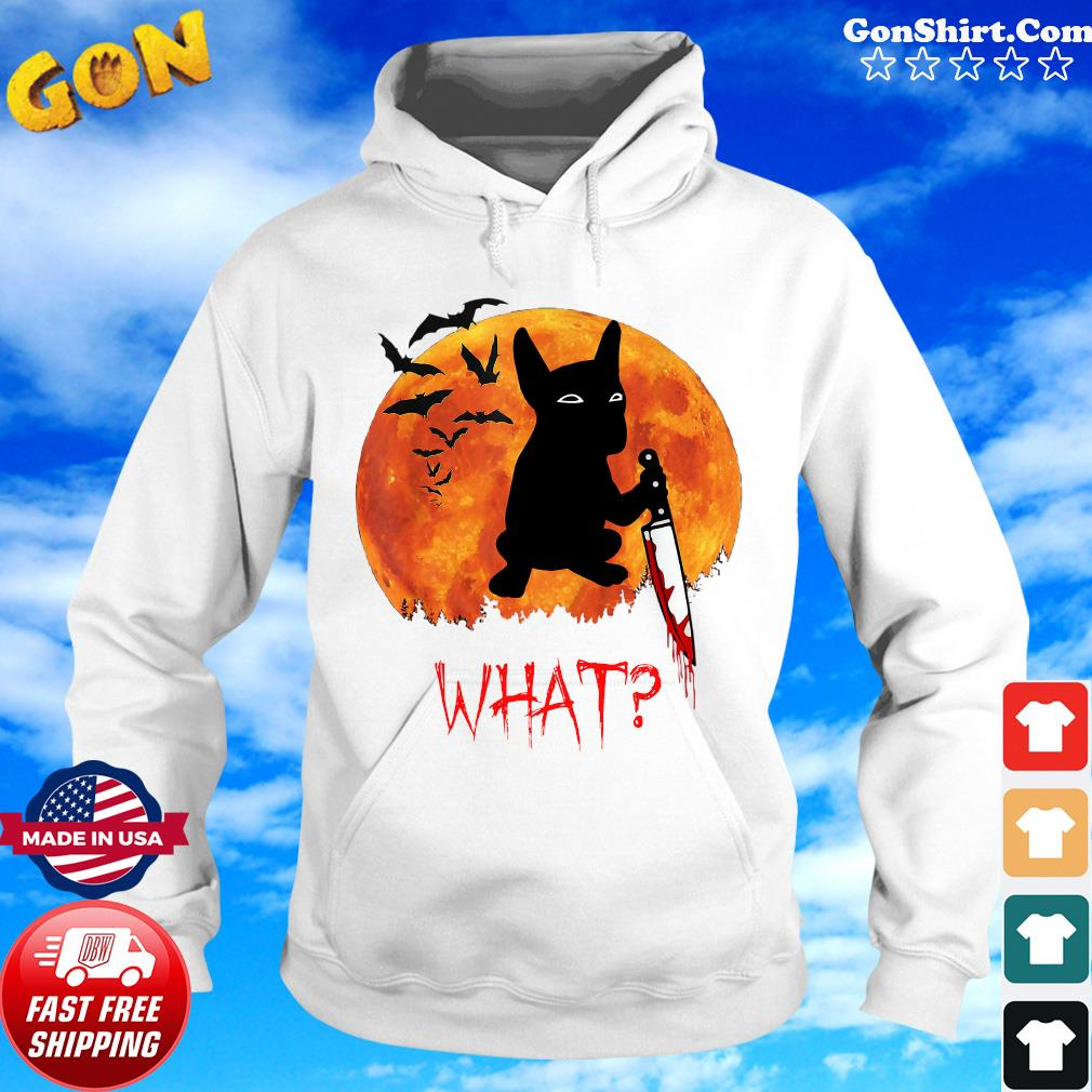 Michael Myers Bulldog What Knife Blood Halloween Shirt Hoodie