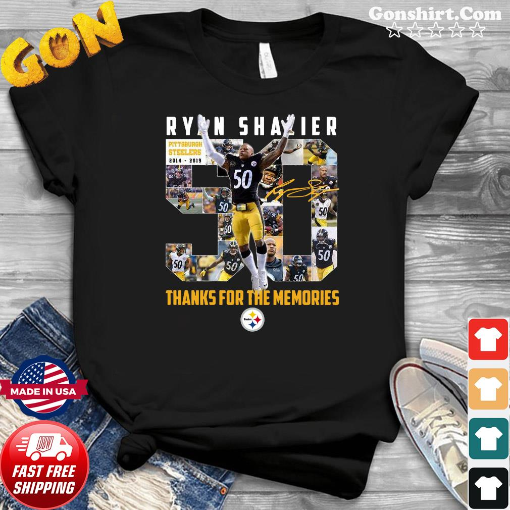 Ryan Shazier 50 Pittsburgh Steelers 2014 2019 Thank You For The Memories Signature Shirt
