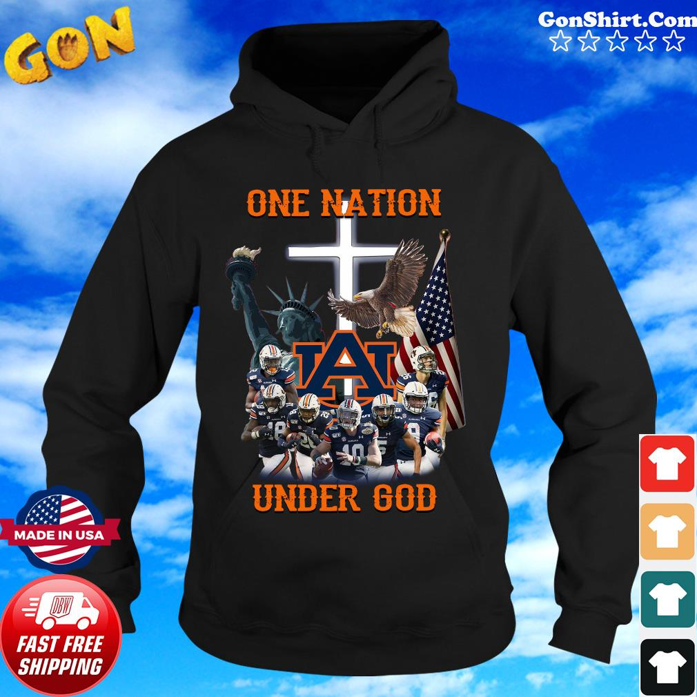 Statue Of Liberty American Auburn Tigers One Nation Under God Shirt Hoodie