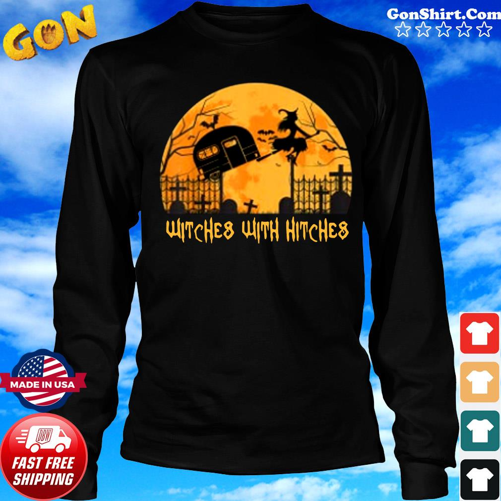 Witches with Hitches Halloween Camping Gift Shirt Long Sweater