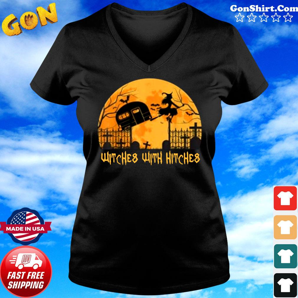 Witches with Hitches Halloween Camping Gift Shirt ladies tee