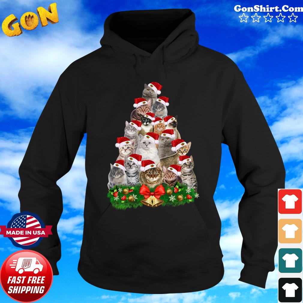 Cats Tree Merry Christmas Sweats Hoodie
