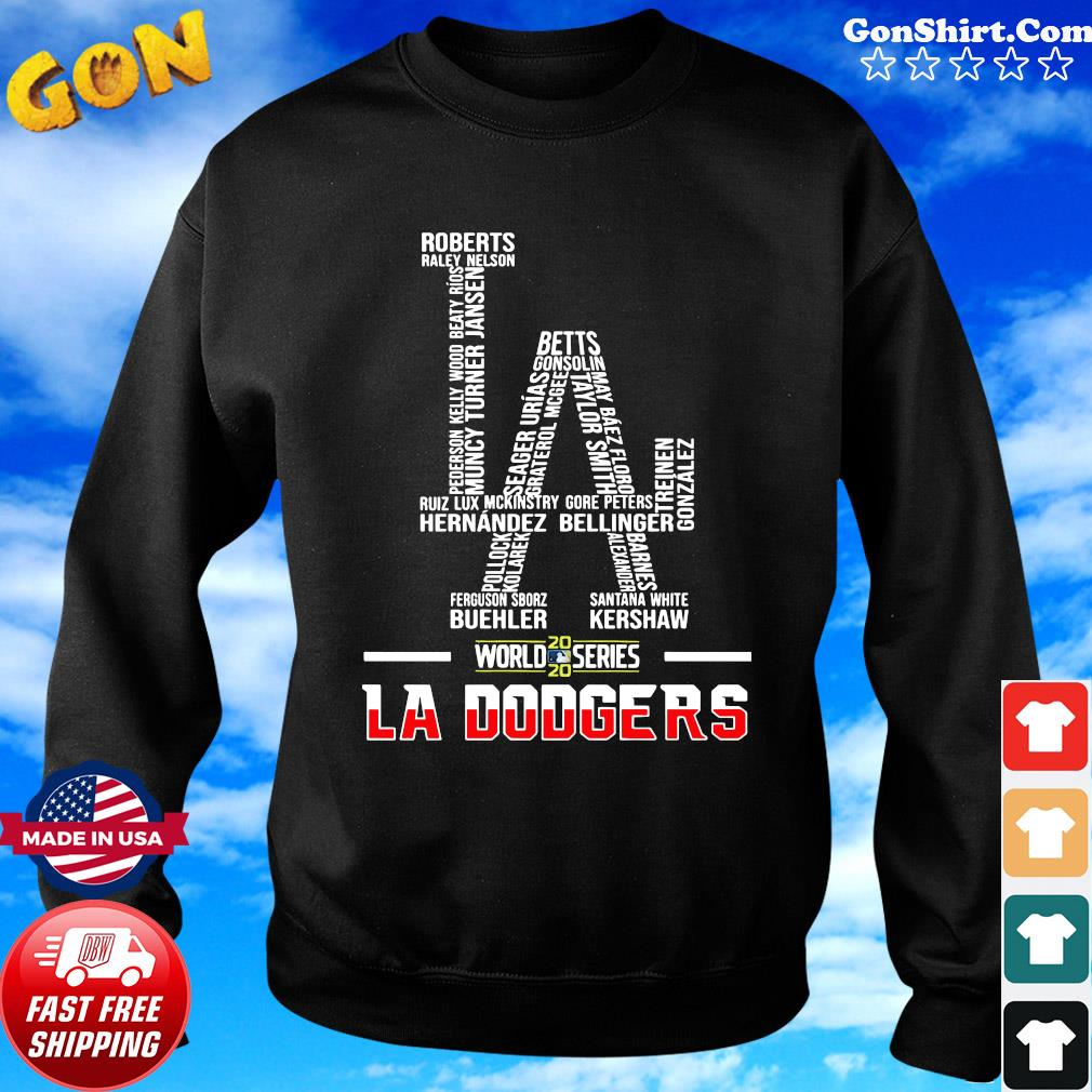 Los Angeles Dodgers World Series 2020 Name Player Shirt Sweater