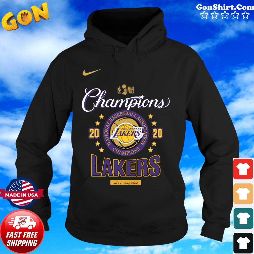 Official Los Angeles Lakers Nba Champions Championship 2020 Shirt Hoodie Sweater Long Sleeve And Tank Top
