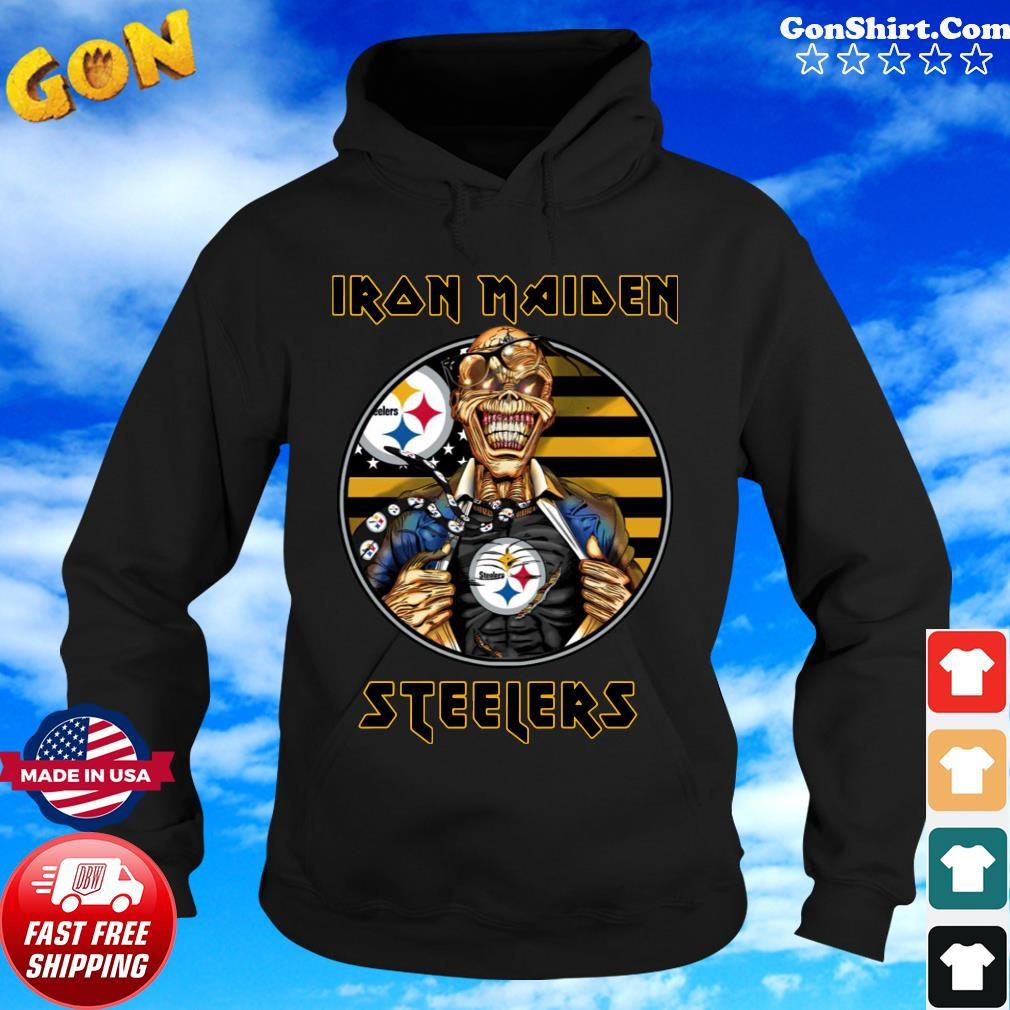 Pittsburgh Steelers Iron Maiden Halloween Shirt Hoodie