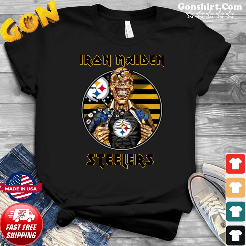 Pittsburgh Steelers Iron Maiden Halloween Shirt