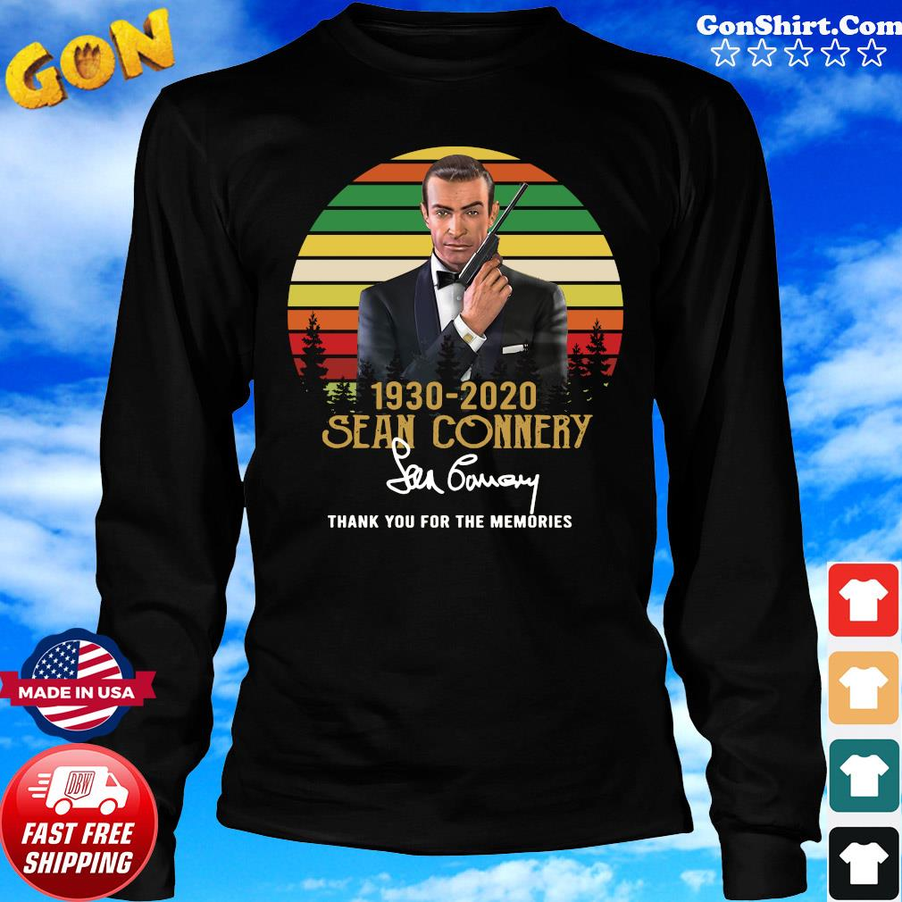 Sean Connery 1930 2020 Thank You For The Memories Signature T-Shirt Long Sweater