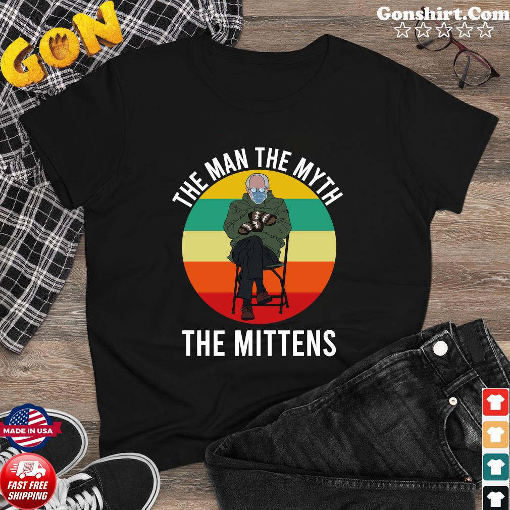 Official Bernie Sanders The Man The Myth The Mittens 2021 Vintage Shirt