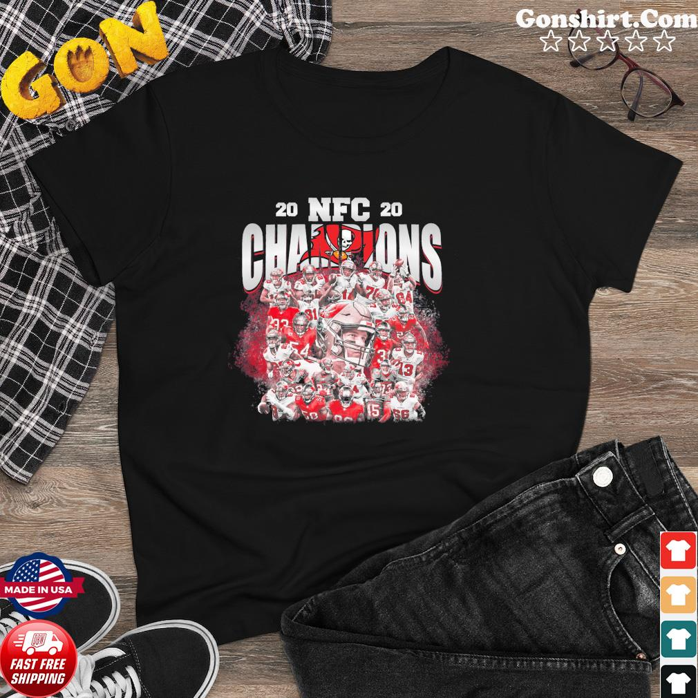 Tampa Bay Buccaneers Team Football Players 2020 Nfc Champions Shirt